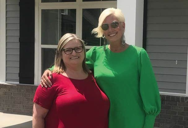 2018 St. Jude Dream Home winner- Becky Foster of Ludowici, GA with Leslie Ehlers, Village Park Homes Marketing Manageer